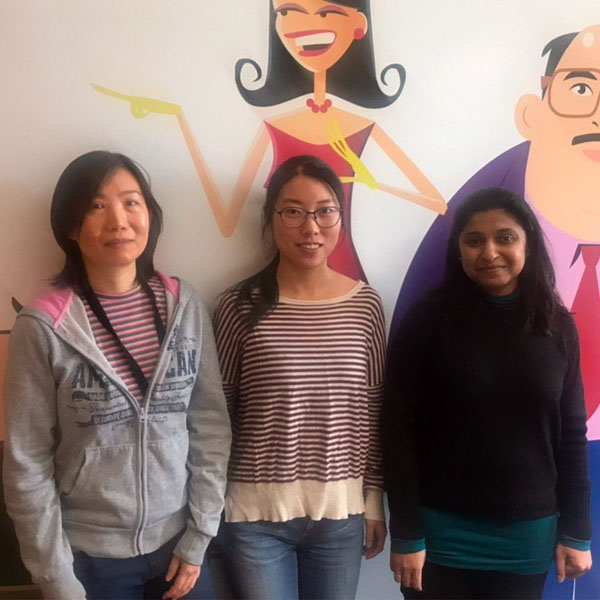 Chaitra Shanthappa (Senior Software Engineer), Hui Liu (Software Engineer) and Koren Tang (Senior Software Engineer), PAF